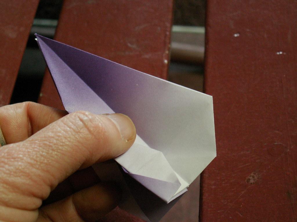 Origami pattern fleur de lys 32 origami fleur de lys pat flickr - Origami fleur de lys ...