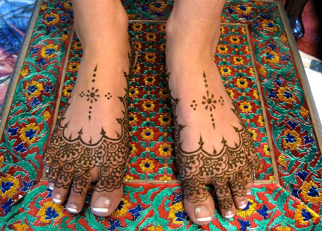 neema 39 s henna slipper feet henna by. Black Bedroom Furniture Sets. Home Design Ideas