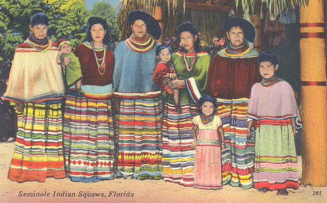 seminole women and children this undated postcard photo