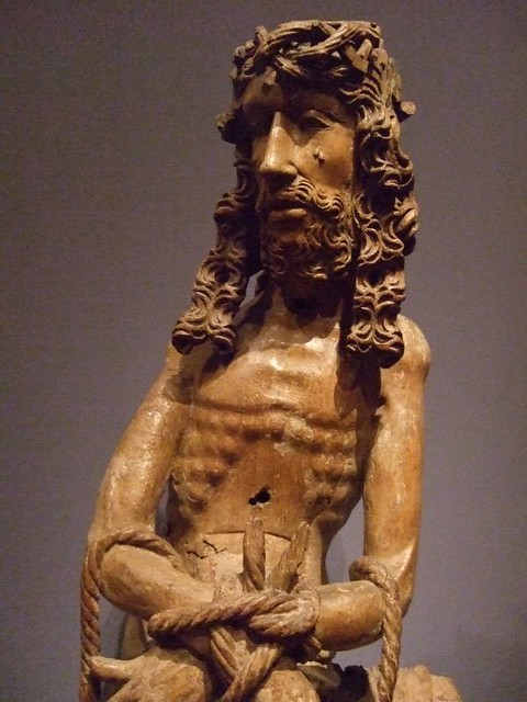 Christ In Sorrow Franco Flemish 1460 Oak Photographed At
