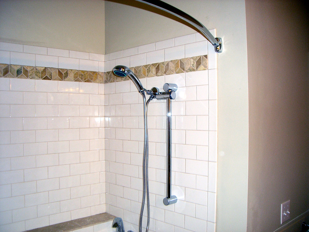 Walk In Tub Custom Tile With A Hand Held Shower