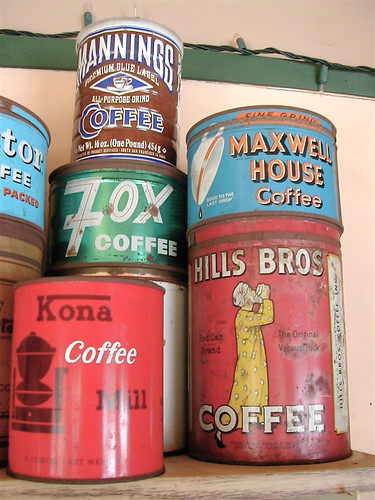 Vintage Coffee Cans 3 ...