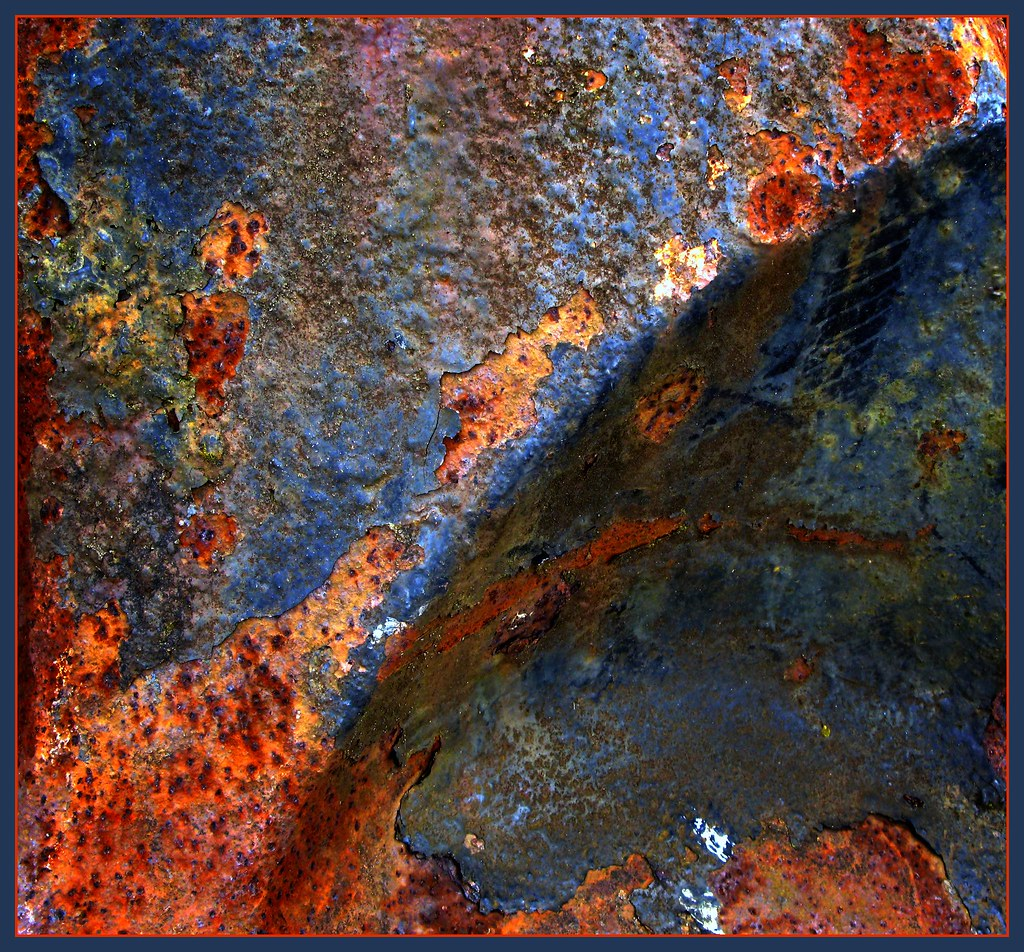 rust colored pattern in-#35