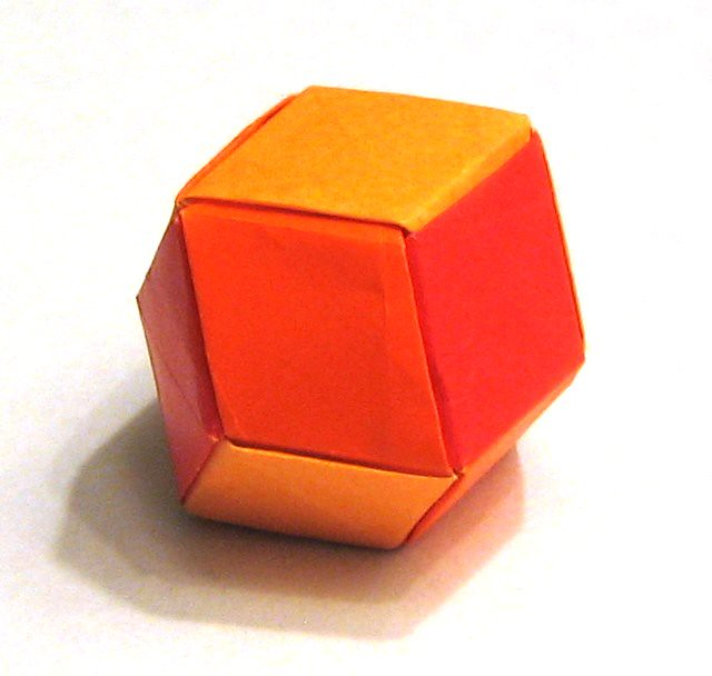Origami Dodecahedron Rhombic Dodecahedron Made From 12 Pie Flickr
