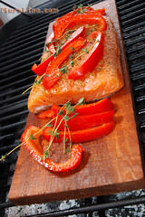 Salmon BBQ'ed on a Plank of red cedar! | by MarcGrandmaison.com