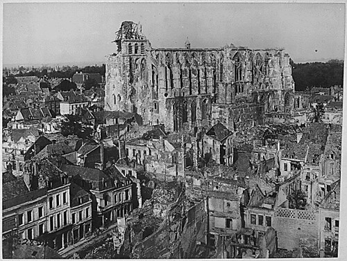 public domain wwi ruins of cathedral of st quentin fra flickr. Black Bedroom Furniture Sets. Home Design Ideas