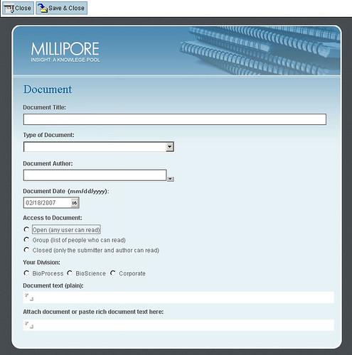 form intput