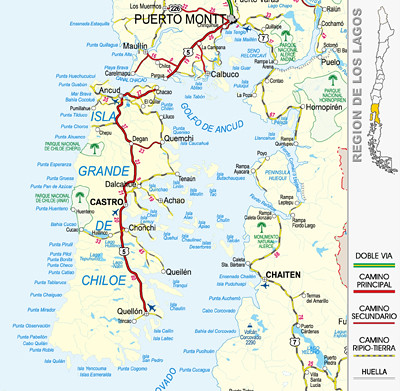 Map of the Islands of Chiloe, Chile | Bob Frassinetti | Flickr
