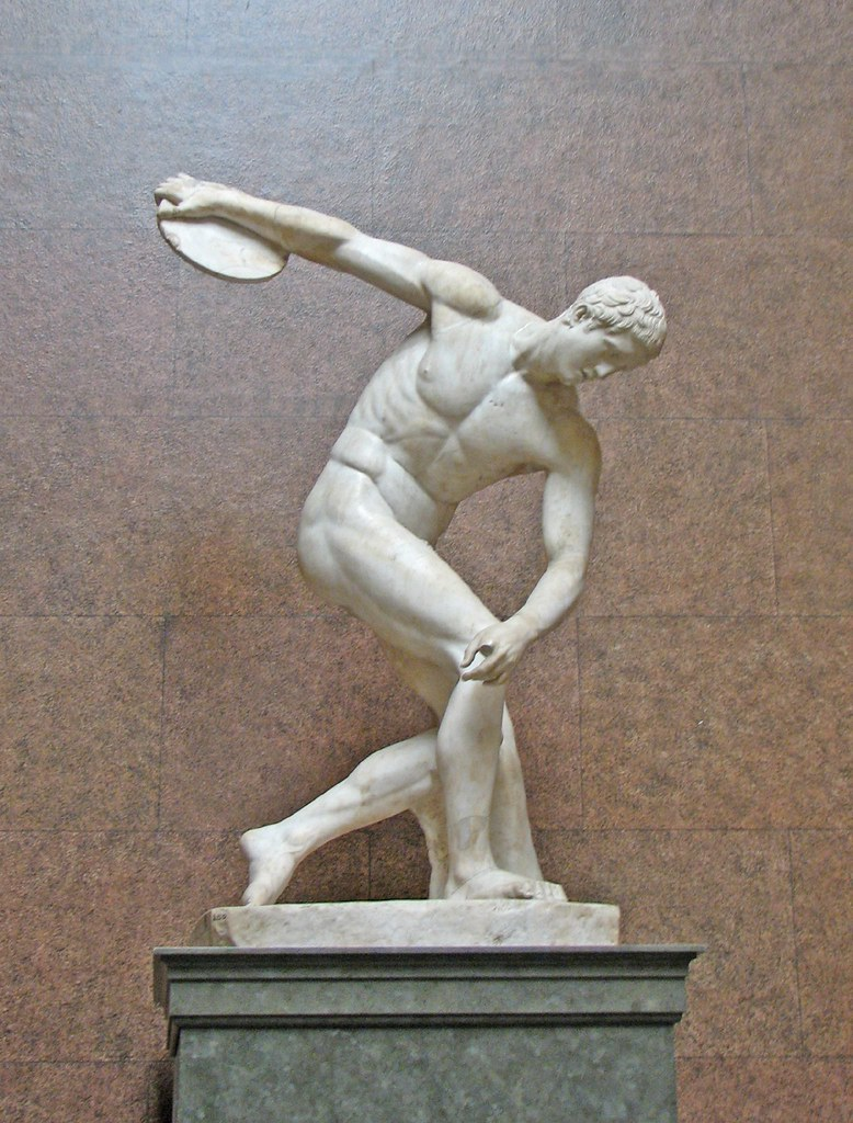 Discus Thrower This Marble Statue Is One Of Several