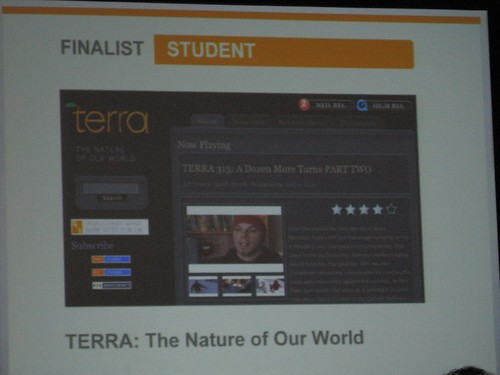 Life on Terra slide at SXSW web awards | by hutchenc