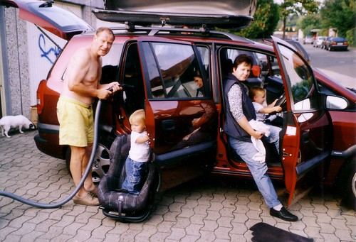 j rn daniel doris alex cleaning car jeremy miles flickr. Black Bedroom Furniture Sets. Home Design Ideas