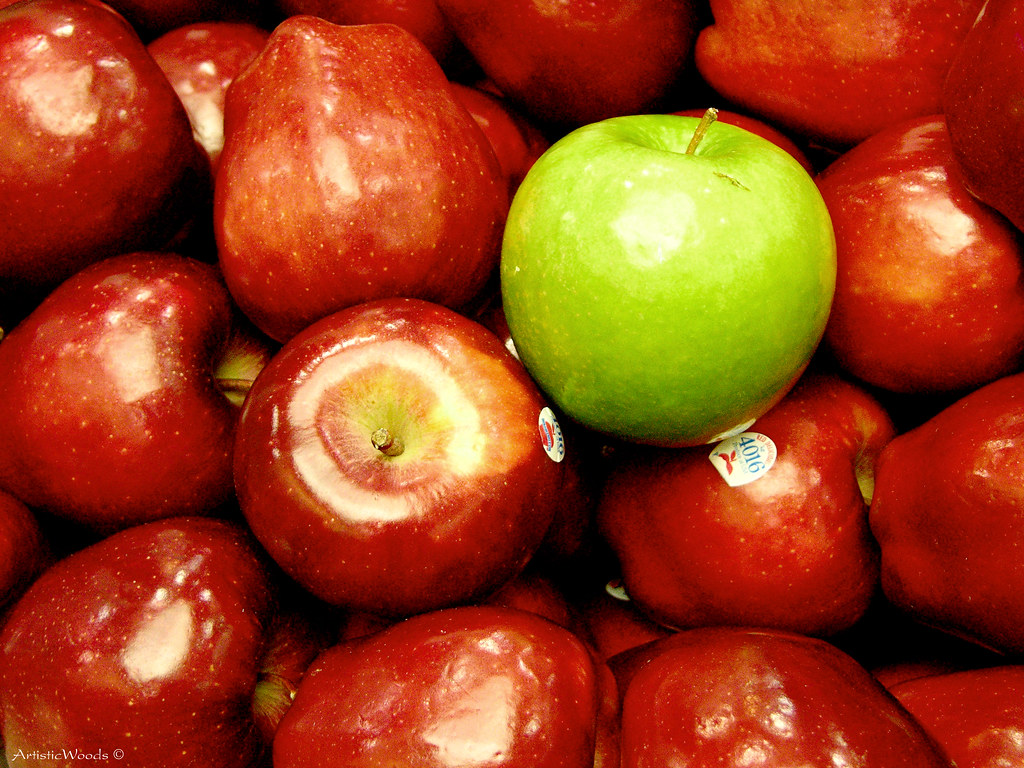 green and red apples. green apple, red apples | by raisinsawdust - (aka: tennphoto) and e
