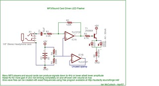 MP3 LED Flasher Schematic | by ianmc333