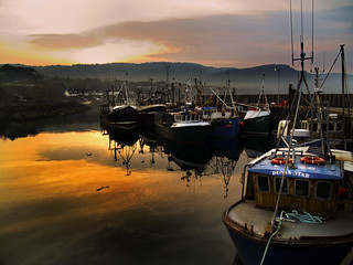 Carradale Harbour in the Gloaming | by dunard54