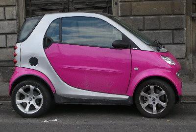 how to open back door smart car