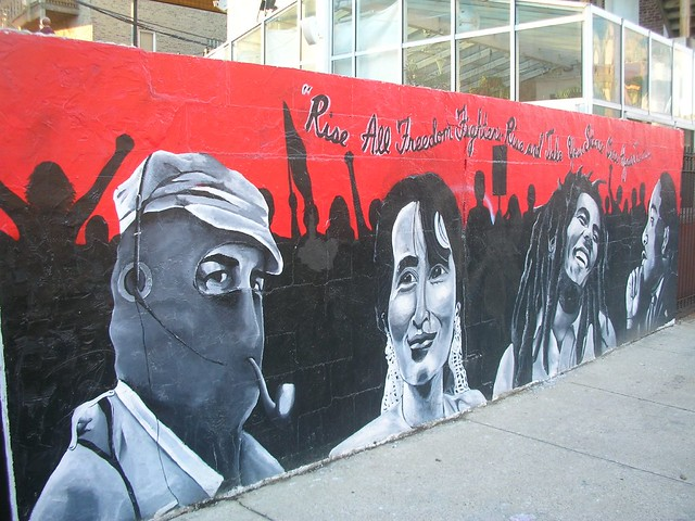 Freedom fighters mural in wicker park flickr photo for Bob marley mural san francisco