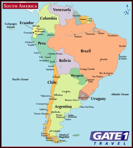 Mapa America Del Sur South America Map America Do Sul A Flickr