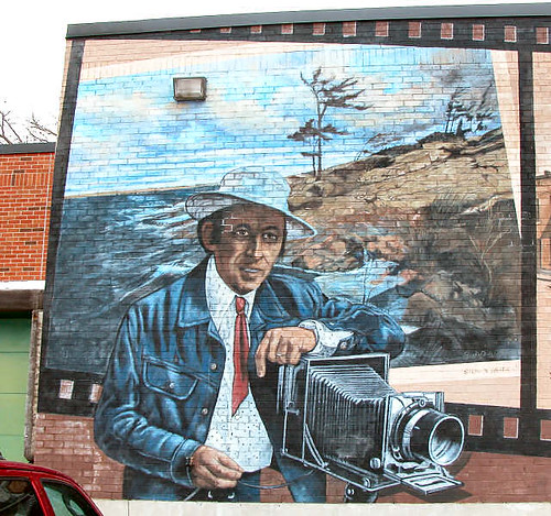 Budd Watson, photographer - mural on wall | by gnawledge wurker