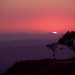 sunset at Sinhgad fort