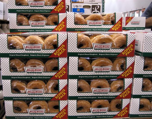 Glazed donuts krispy kreme