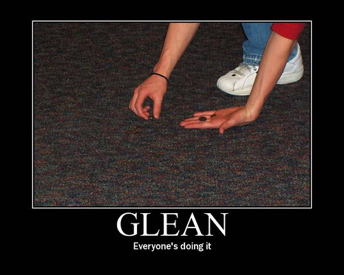 Conjugate action-word Gleamed