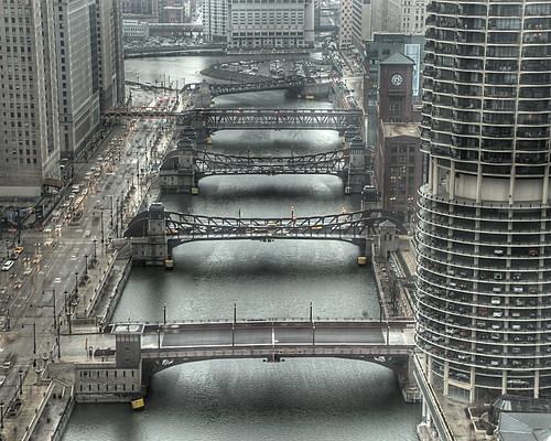 Chicago's Moving Bridges over the Chicago River | by spudart