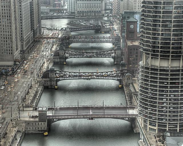 Chicago's Moving Bridges Over