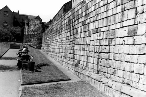 Old City Wall Newcastle Upon Tyne Scan Of 1974 Print