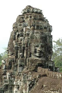 Face tower, Bayon | by cornstaruk