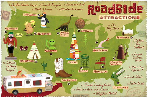 Roadside Attractions Map | by Linzie Hunter