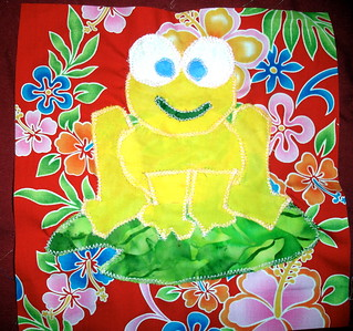 Froggy quilt, I: Yellow Frog. | by Christina