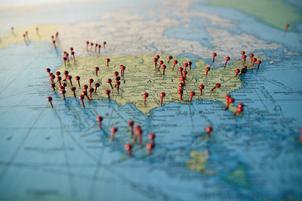 Pushpins In A Map Over The U S A Marc Levin Flickr