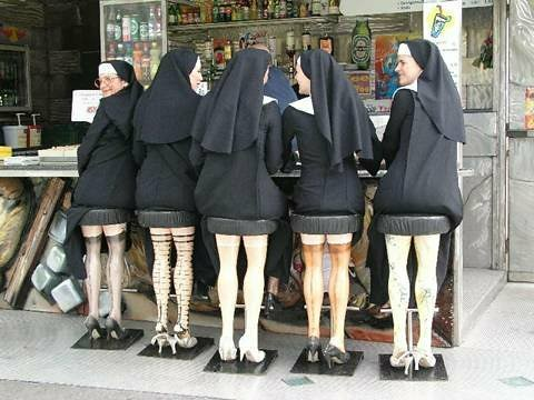 nuns on stools | by The Road to Broadway Pageant