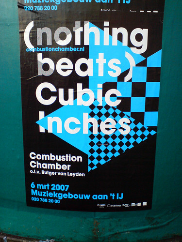 poster in the city of Amsterdam: (nothing beats) Cubic Inches | by Posters in Amsterdam by Jarr Geerligs