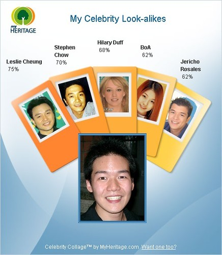 My Celebrity Look-alikes | www.myheritage.com/collage. Get ...