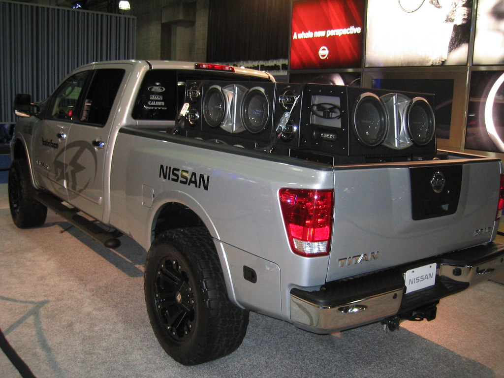 Nissan       Titan    with 3000 Watt    Rockford       Fosgate    Sound System