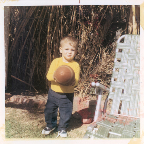 Me with a football, 1970 or 1971 | by freeparking :-|