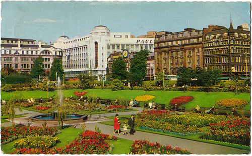 Piccadilly gardens manchester 1967 dated 1967 i for Gardening jobs manchester