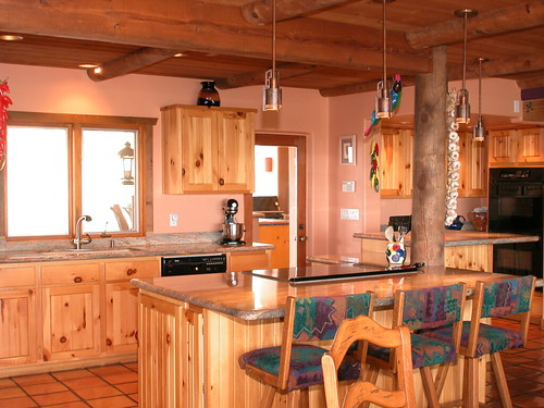 Southwest Country Kitchen A Latia Stripped Wooden Pole