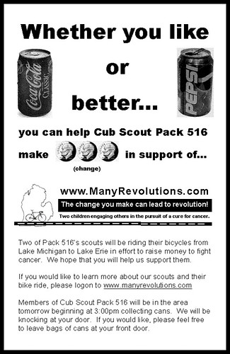 Cub Scout Pack 516 Can Drive Flyer