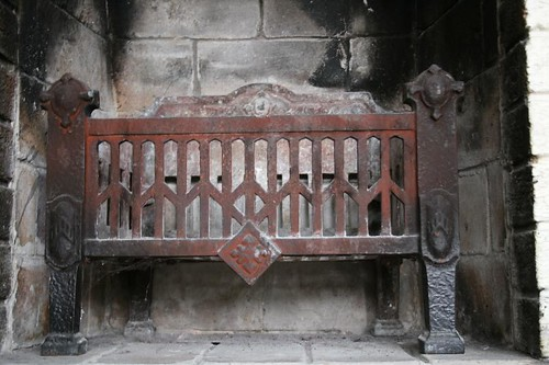 antique cast iron fireplace grate so much history in