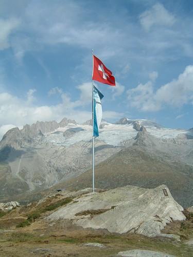 aletschgletscher bandiere