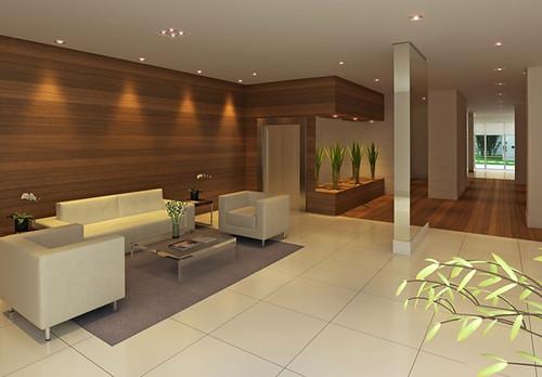 Hall social do pr dio residencial na barra funda em s o p - Decoracion hall de entrada edificios ...