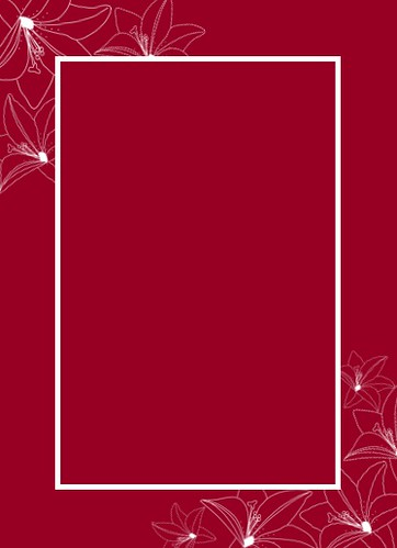 Maroon Invitation With Outline Flowers Jpg 5 X7 Maroon I Flickr