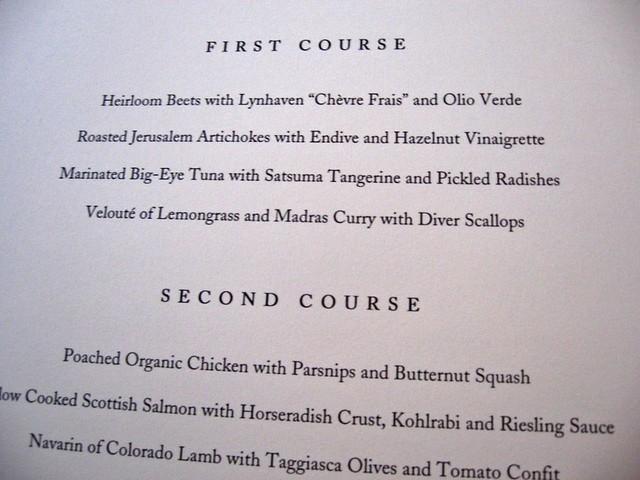 eleven madison park u0026 39 s restaurant week menu  top part