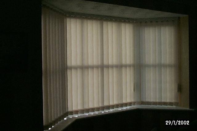 Vertical Blinds Bay Window By Mercury Blinds Colchester