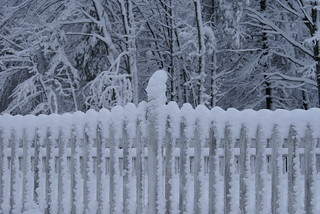 April 5th Snow Storm Maine Fence | by eutch