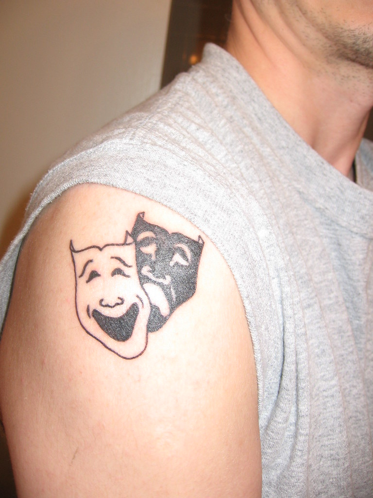 Tattoo my tattoo comedy tragedy tears laughter good for Comedy and tragedy tattoo