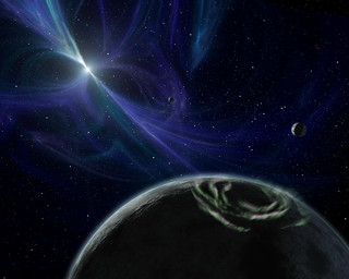 Released to Public: Artist View of Pulsar Planet System by NASA/JPL (NASA) | by pingnews.com