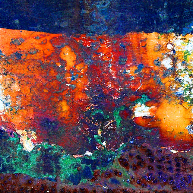Paint Amp Rust Close Up Of Rust Stained Paintwork On The